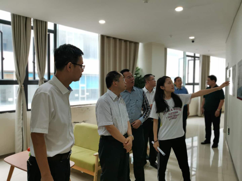 内江市市委常委、统战部部长田文平莅临市中区现代服务业创新创业园视察工作