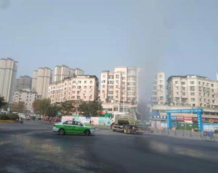内江高新区综合行政执法局开展重污染应急响应工作