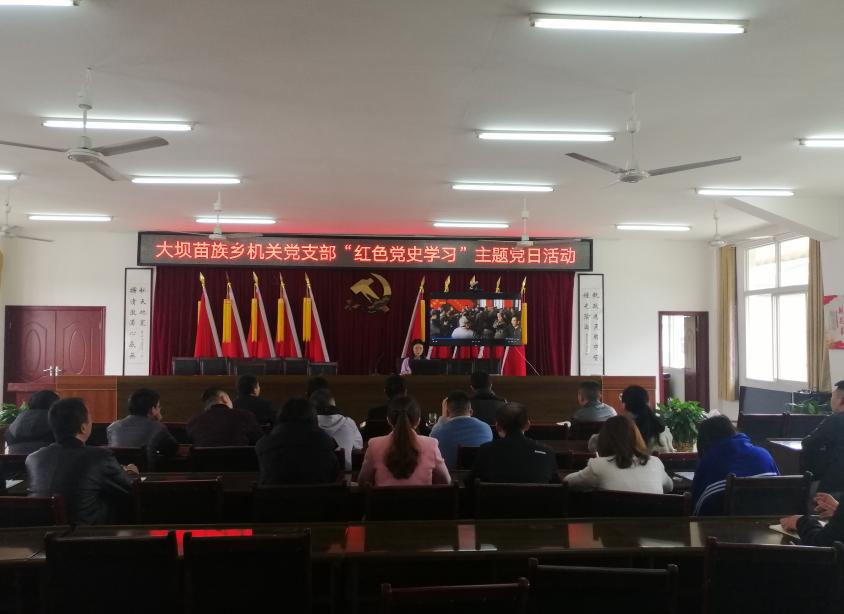 兴文县大坝苗族乡掀起党史学习教育热潮